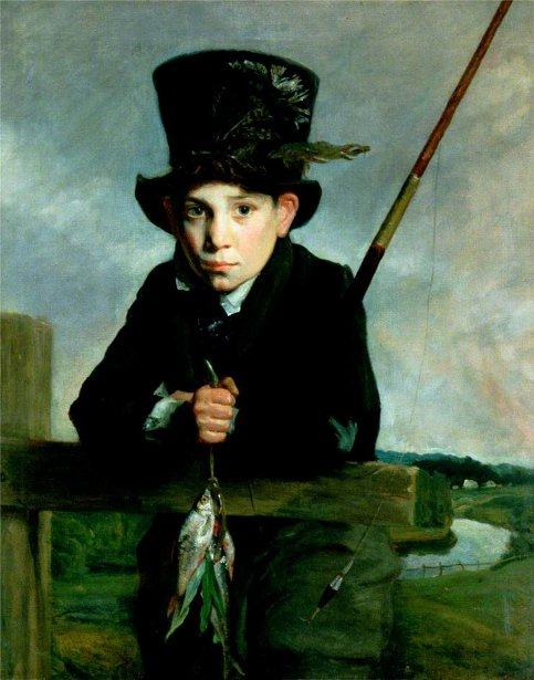 Boy In A Top Hat With Flies
