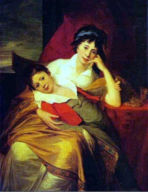 Catherine Muravyova With Her Son Nikita Muravyov