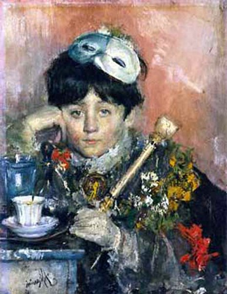 Child with a mask