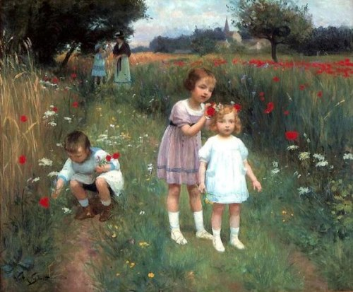 Children In A Poppy Field