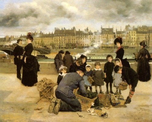 Children With A Toy Seller On The Quay du Louvre
