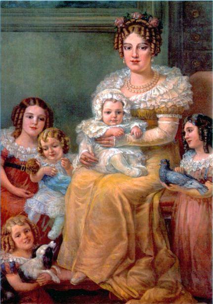 Dona Leopoldina e seus filhos
