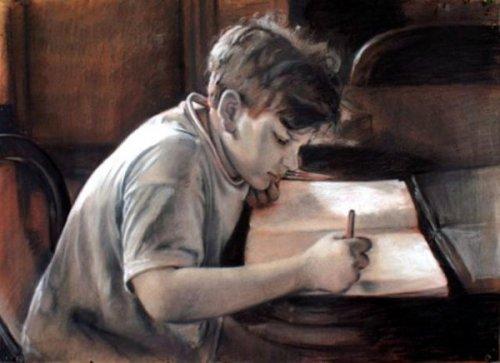 Eugenio che disegna