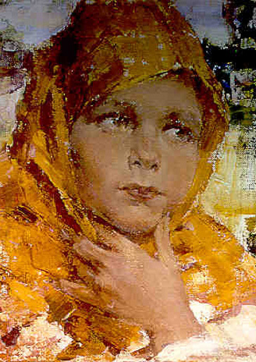 Girl In Orange Shawl