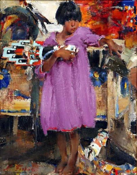 Girl In Purple Dress