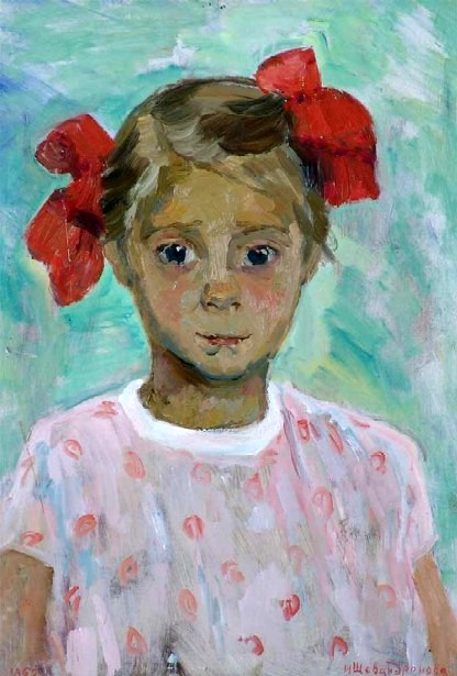 Girl With Red Bows