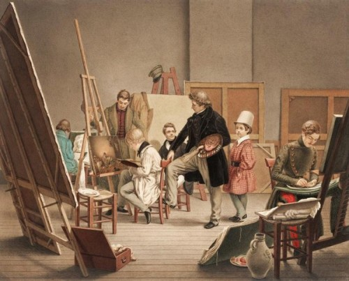 In The Artist's Studio