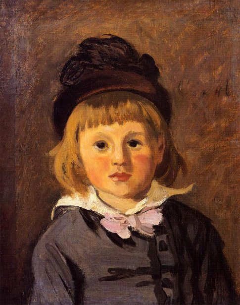 Jean Monet Wearing A Hat With A Pompom