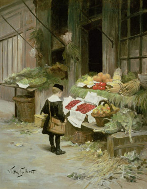Little Boy At The Market