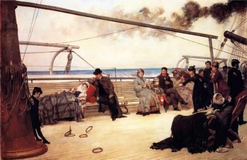 On Shipboard - On The Open Sea - The Transatlantic Steampship Péreire