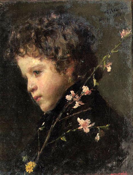 Ritratto di fanciulla - I fiori bianchi