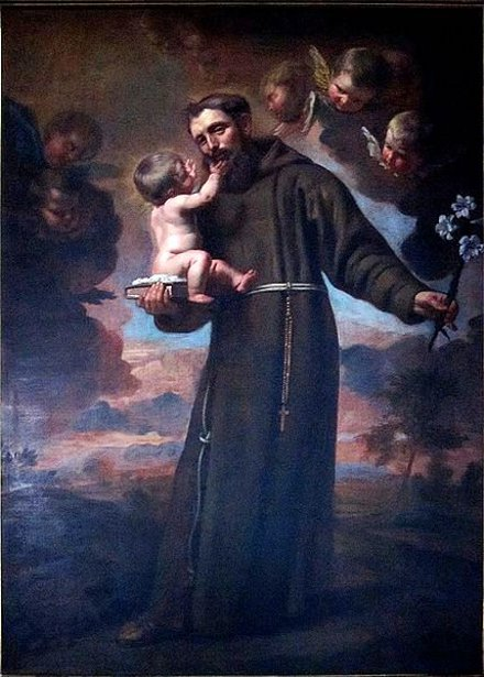 Saint Anthony of Padua And Infant Jesus