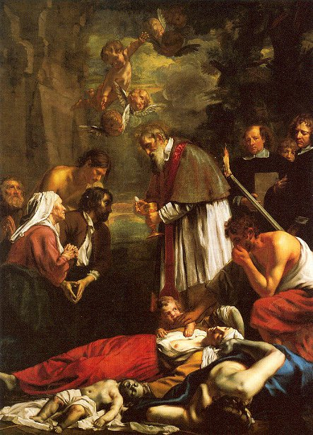 St. Macaire Of Ghent Tending The Plague-Stricken
