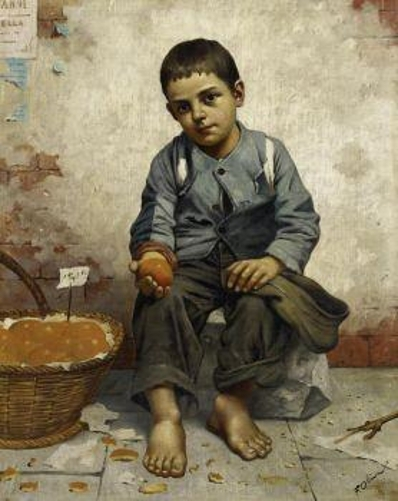 Street Urchin With Fruit