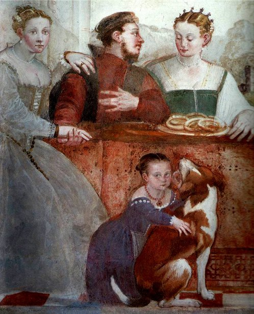 The Banquet (fresco detail)