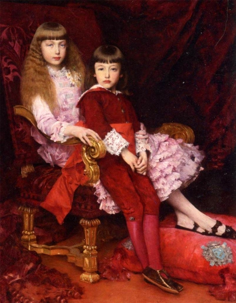 The Duc de Chartres' Children, The Duce de Guise And The Future Duchesse de Magenta