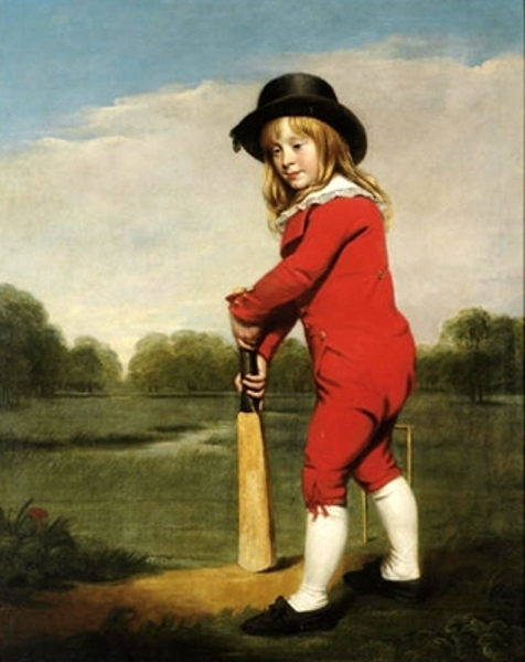 The Red Boy - Portrait of Master McDonough, Holding A Cricket Bat