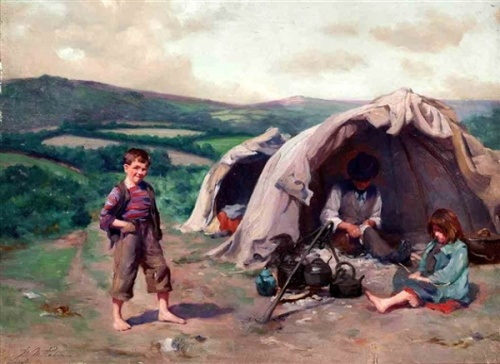 The Tinker's Camp - The Gypsy Encampment