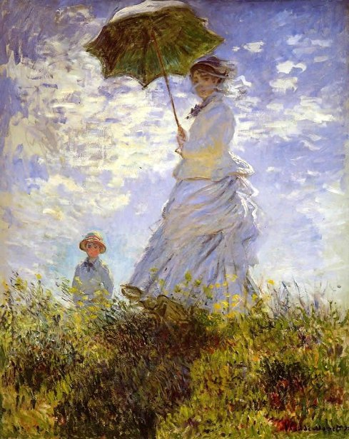 The Woman With The Parasol (Camille Monet And Son Jean)