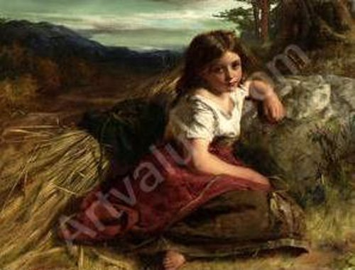 Young Girl At The Edge Of A Cornfield