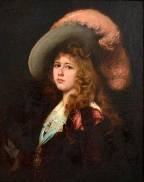 Young Girl In A Fancy Bonnet