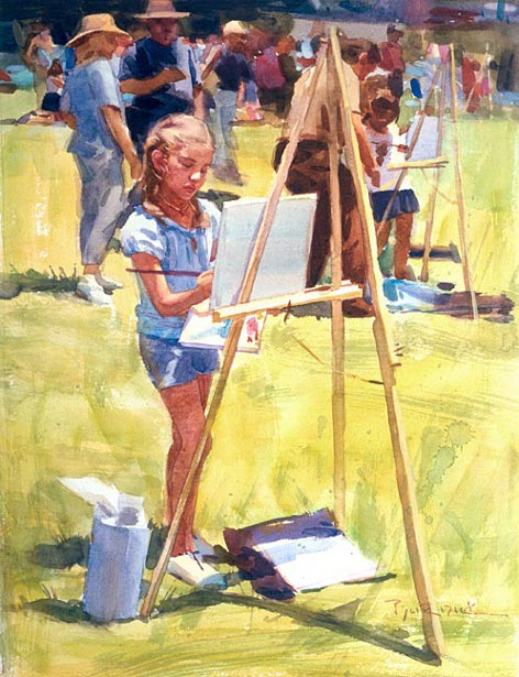 Young Plein Air Painter