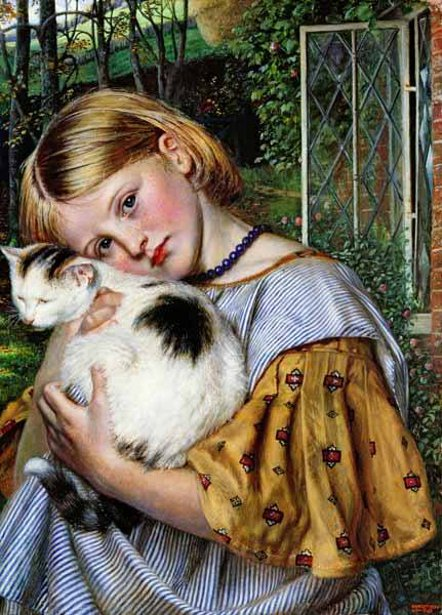 A Girl With A Cat