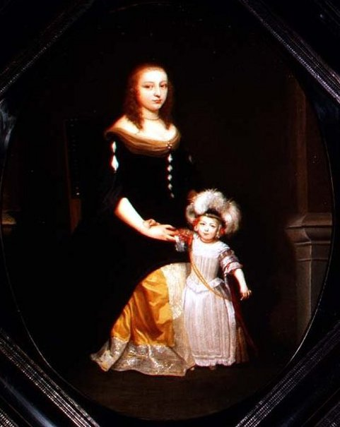 A Mother And Daughter In An Interior