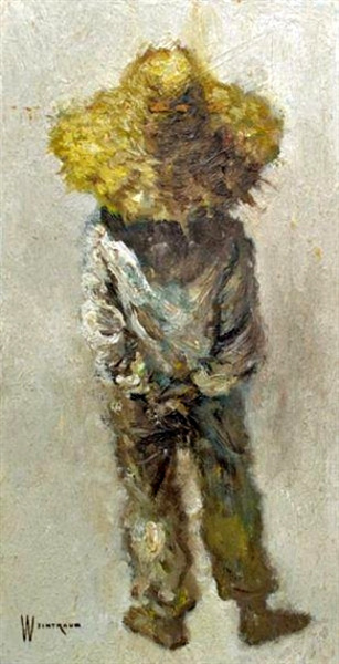 A Peasant Child In Straw Hat