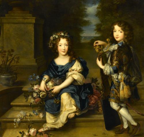 Anne-Marie de Bourbon et son frère Louis de Bourbon