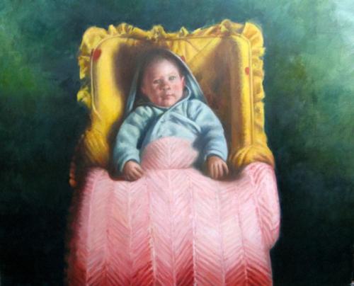 Baby - Luke In Yellow Basket