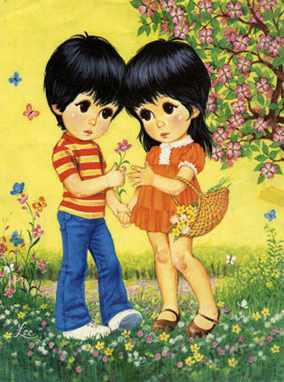 Boy and Girl in Spring