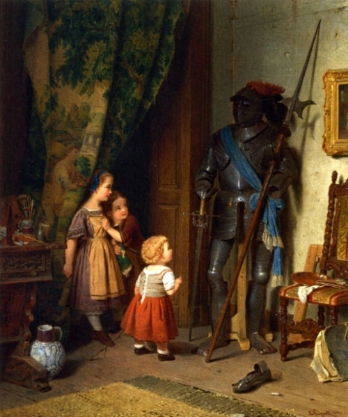 Children In The Painter's Studio