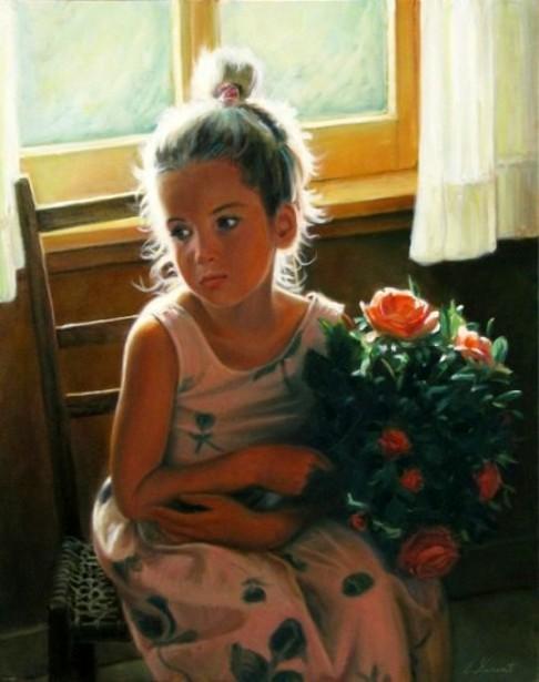 Enfant au bouquet