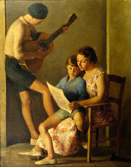 La famiglia (Ritratto di Pasquarosa con i due figli)