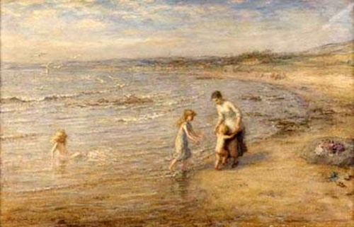 Playing In The Waves - By The Seaside
