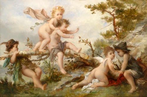 Putti Dancing And Playing