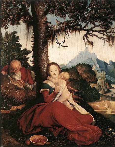 Rest On The Flight To Egypt - Holy Family In The Open