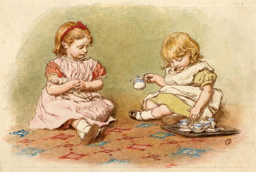 Two Girls Playing - Tea Party