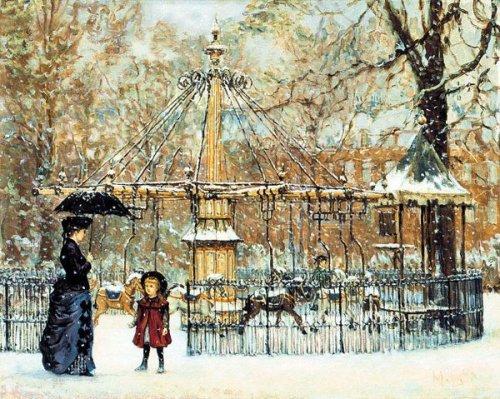 Winter Merry-Go-Round