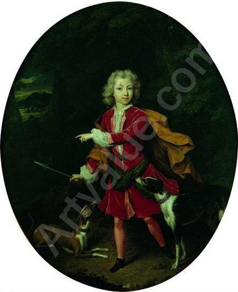 Young Boy Dressed As Hunter