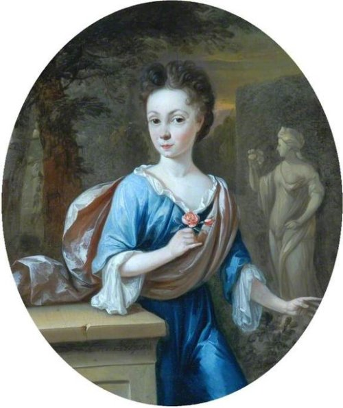 Young Girl Holding A Rose