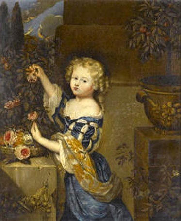Young Girl Picking Roses