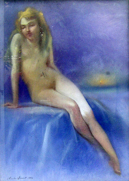 Young Girl Sitting Nude