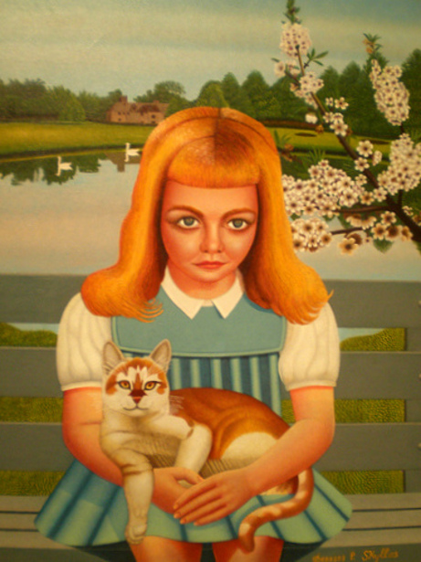 Young Girl With A Cat