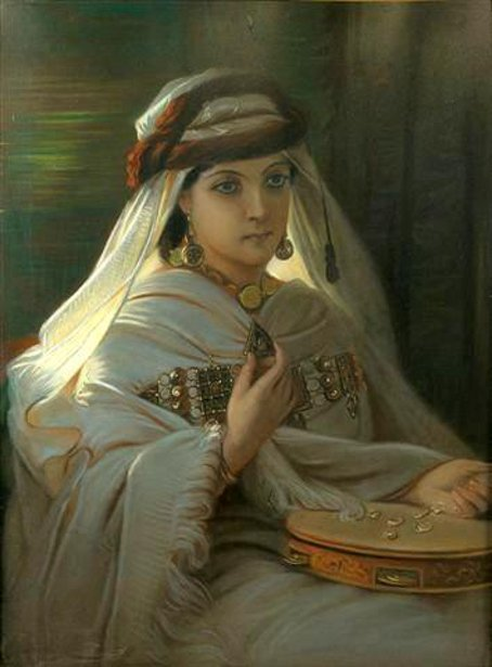 Young Moroccan With Tambourine