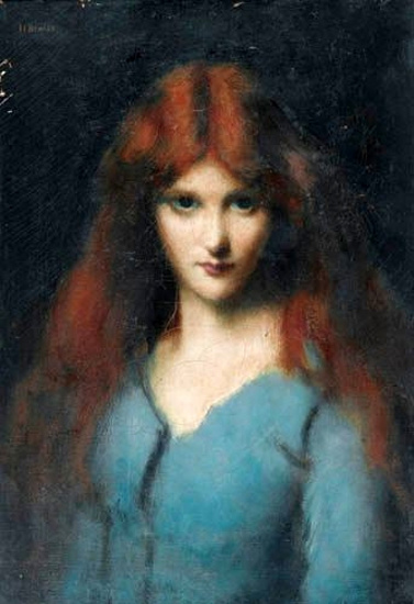 A Young Girl In A Turquoise Dress