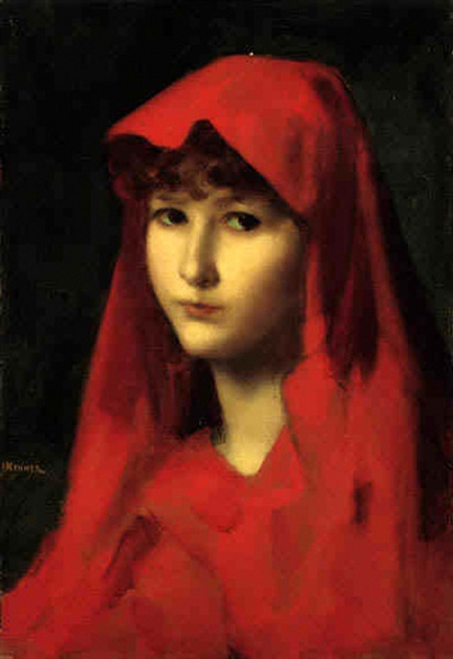 A Young Girl With Red Cape