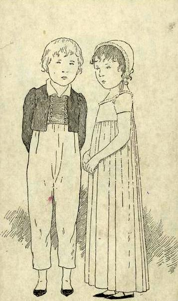 Costume Of French Children In 1810