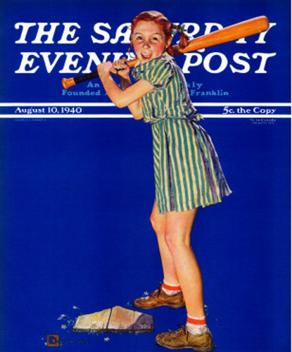 Girl At Bat